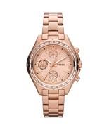 Fossil Dylan Women's Metallic Rose Dial Stainless Steel Bracelet Watch  CH2826 - $60.76