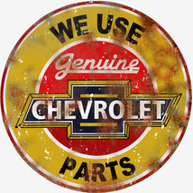 Extra Large Reproduction We Use Genuine Chevrolet Parts Sign - $46.53