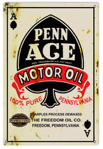 Reproduction Penn Ace Motor Oil Sign - $21.78