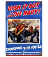 Dish It Out Navy Military War Patriotic Sign - $25.74