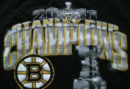 Boston Bruins T-Shirt 2011 NHL Stanley Cup Champions New w/o Tags 100% C... - $14.95