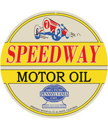 "Reproduction Speedway Motor Oil Sign 18"" Round Sign - $46.53"
