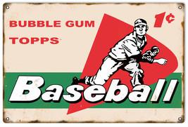 Bubble Gum Topps Baseball Nostalgic Advertisement Sign - $25.74