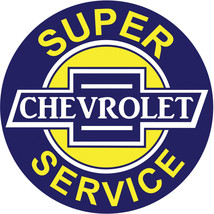 Extra Large Super Chevrolet Service Station Gasoline Motor Oil  Sign - $46.53