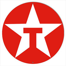 Large Red Texaco Motor Oil Sign 18 Round - $46.53