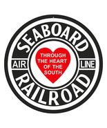 "Seaboard Railroad Air Line Sign 18"" Round - $46.53"