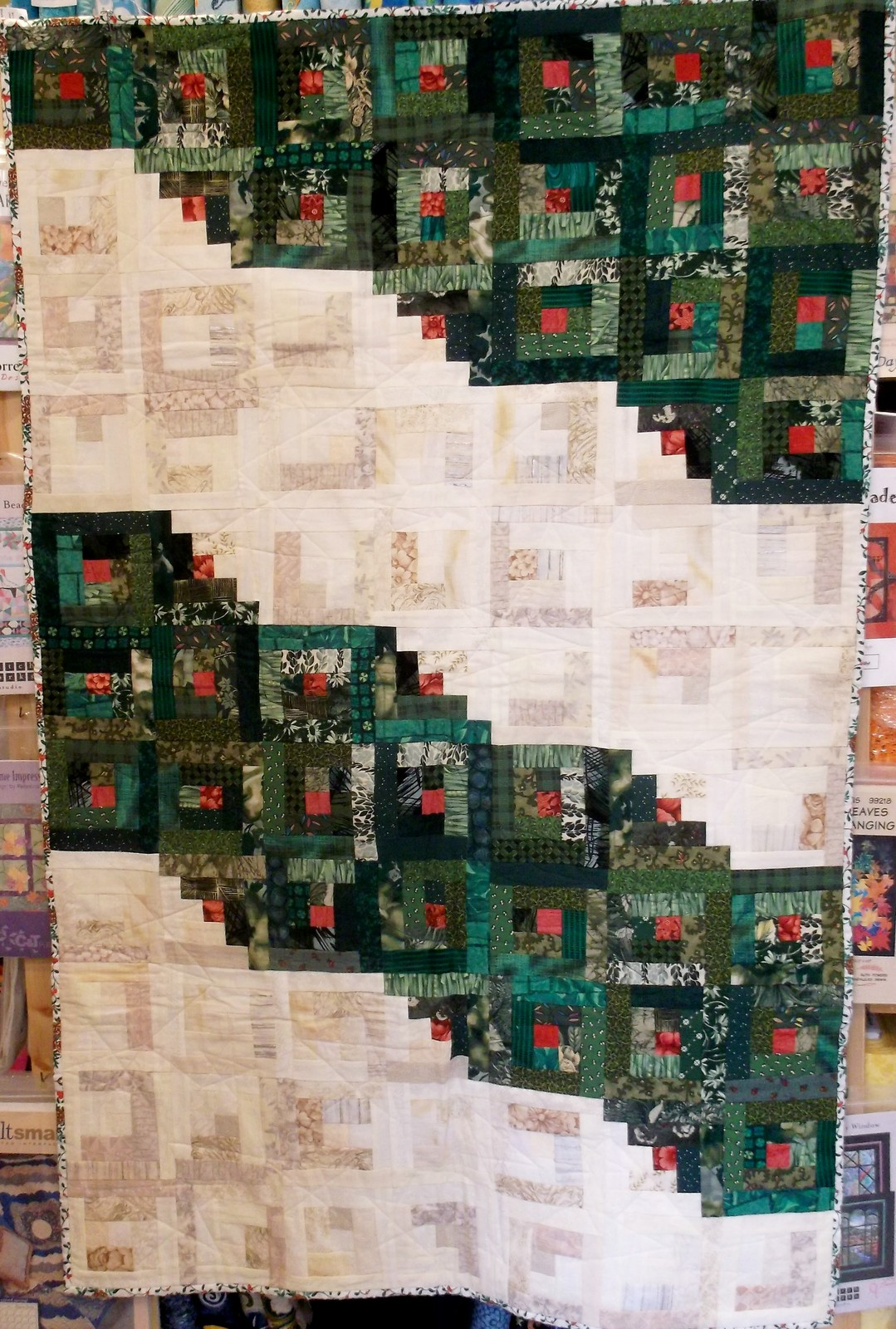 Holiday Log Cabin Quilt