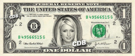 PARIS HILTON on REAL Dollar Bill Cash Money Bank Note Currency Celebrity... - $4.44+