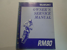 1997 Suzuki Rm80 Rm 80 Owners Service Manual # 9901102 B7203 A Worn Faded Factory - $27.70