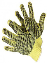Lot 12 Pairs Kevlar 7 Gauge Knitted Gloves With PVC Dots On 2 Sides Size... - $84.99