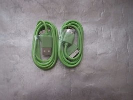 2 Green Apple  USB Sync Data Charger Cord Cable for iPhone 4S 4 3 & iPod... - $1.99