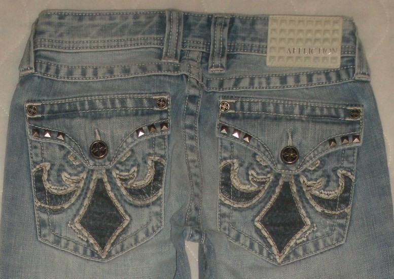 Affliction Blake Black Premium Relaxed Straight Jeans Mens Size 28 R- 28 x 32 - $64.99