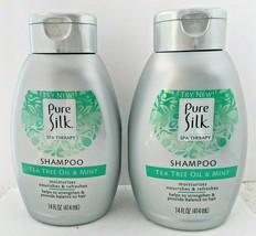 2X Tea Tree Oil & Mint Pure Silk Shampoo Nourish Moisturize Spa Therapy ... - $12.86