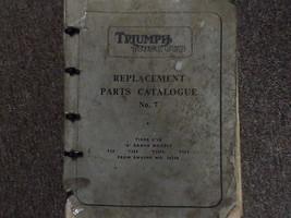 1961 Triumph Tiger Cub Replactment Parts Catalog No. 7 Manual FACTORY OE... - $71.23