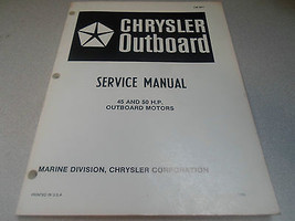 1986 Chrysler Outboard Service Manual 45 50 HP OEM Boat OB 3871 Outboard... - $35.60