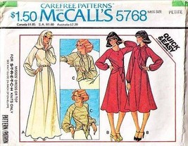 1977 PULLOVER KNIT DRESS or TOP Pattern 5768-m Size 6-8 Petite - Complete - $9.99