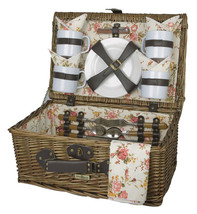 SUNRISE COLLECTION RED WILLOW PICNIC BASKET FOR FOUR (4) - $64.00