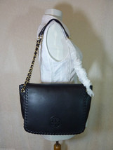 NWT Tory Burch Classic Black Leather Marion Small Flap Shoulder Bag - $450 - $413.82