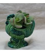 Vintage Green ROOSTER Planter // Figural CHICKEN Planter  - $13.00