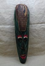 Vintage Hand Painted Wooden Mask // Decorative Wall Hanging Mask - $14.00