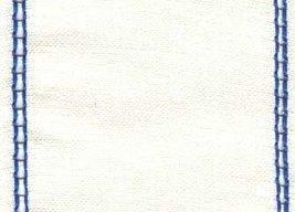 "27ct Celeste Antique White/Royal Blue banding 4.7""w x 18"" 100% linen Mill Hill - $8.10"