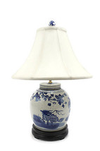 Beautiful Blue and White Porcelain Flat Top Gin... - $277.19