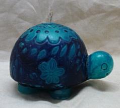 Vintage Retro Blue TURTLE Wax Candle // Vintage... - $5.50