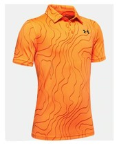 Under Armour Kids Boys Short Sleeve Orange The Playoff Polo Shirt Size YL NEW - $19.80