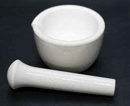 CoorsTek 60322 Porcelain Mortar w/ Pouring Lip & 60323 Porcelain Pestle - $38.00