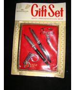 Vtg WINDSOR PEN CORP Brooklyn Gift Set~New Cuff Links~Tie Bar~Key Ring M... - $15.00
