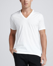 NEW MEN'S HEAVY WEIGHT CLASSIC SPORT GYM UNDERSHIRT COTTON V NECK T SHIRT WHITE