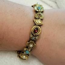Vintage Gold Tone Slider Bracelet - $74.25