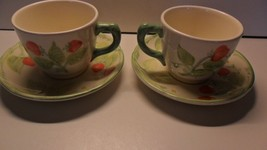 Franciscan Strawberry Fair Cup and Saucer Set (2) - $15.00