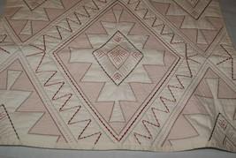 Martha Stewart Quilted Standard Sham Red Cream Embroidery - $17.10