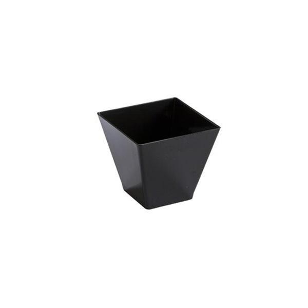 Mini Ware 2 oz Plastic Square Bowl Black/Case of 288