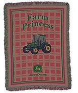 John Deere Farm Princess Mini Woven Blanket - $35.00