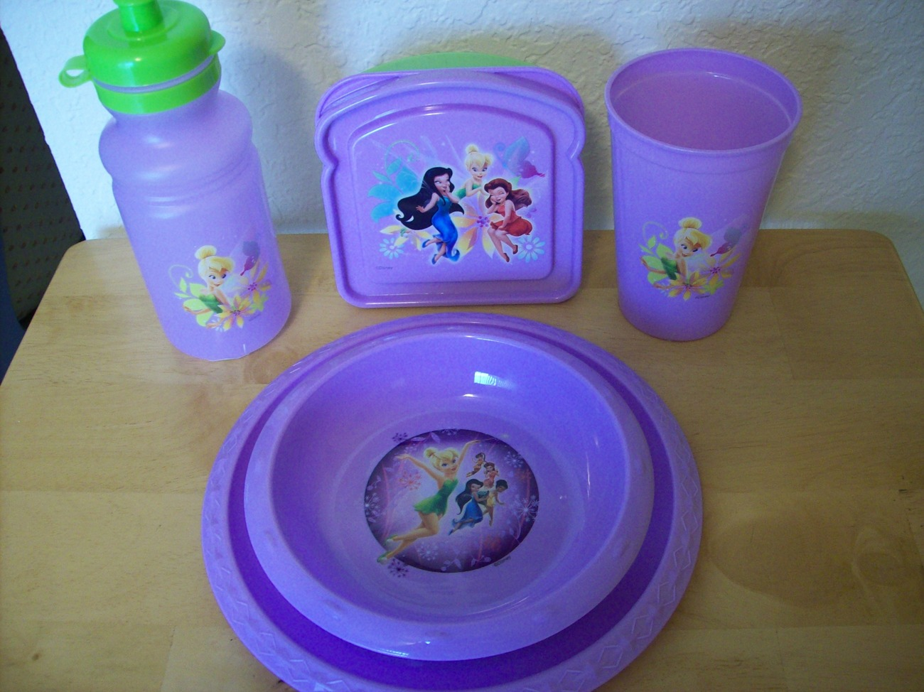 Primary image for Disney TinkerBell 5pc. Children's Plastic Dinnerware Set