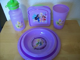 Disney TinkerBell 5pc. Children's Plastic Dinnerware Set  - $25.00