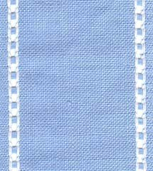 "Primary image for 27ct Celeste Antique Blue/White banding 3.1""w x18"" (1/2yd) 100% linen Mill Hill"