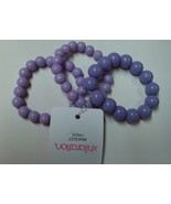 Unique Two Tone Purple High Fashion Stretchable Beads Bracelets 3 Lot  - $7.99