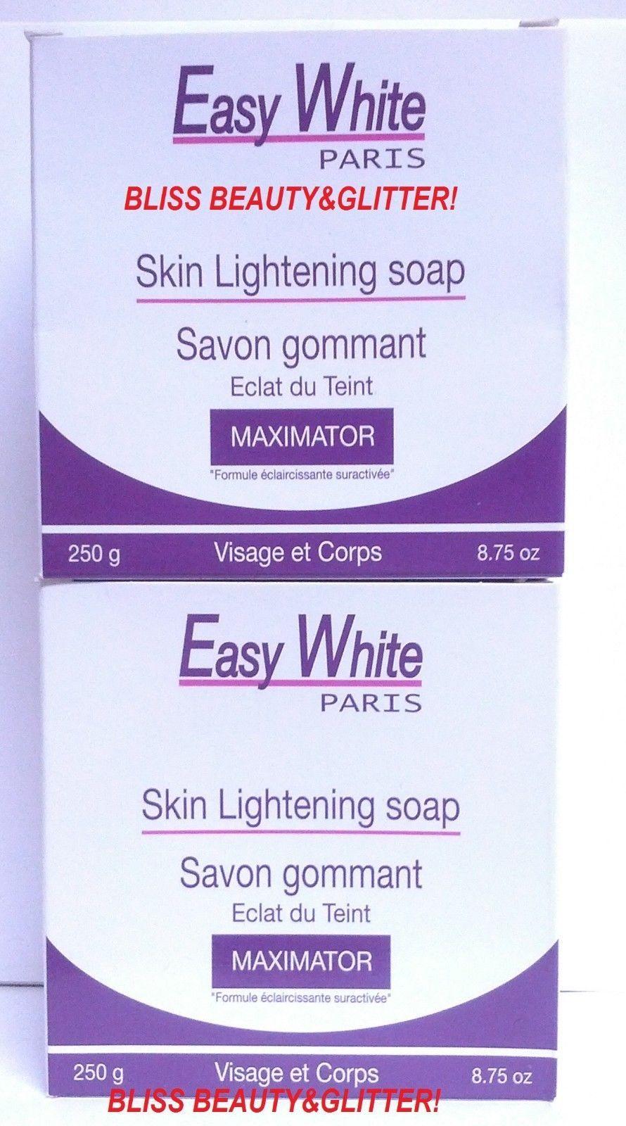 Easy White PARIS 2 LOT! Skin lightening MAXIMATOR Soap 250g HIGHLY ACCLAIMED!