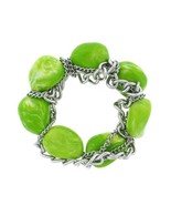 Super Chunky Huge Lucite Beads Chain High Fashion Stretchable Bracelet S... - $9.99