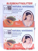 H20 Jours Naturel 2 LOT! Papaya Lightening Soap With Pure Papaya Extract - $15.87