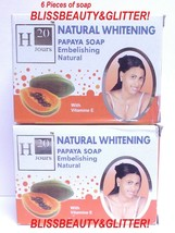 H20 Jours Naturel 6 LOT! Papaya Lightening Soap With Pure Papaya Extract - $33.65