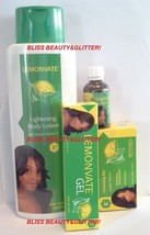 LEMONVATE 4 LOT! Brightening Lotion,Tube Gel,Soap With Vitamin C. Beauty Kit! - $31.78