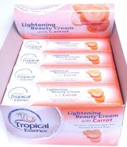 TROPICAL ESSENCE 6 LOT! Lightening Beauty Cream/Carrot Extract WOW! DEAL!!! - $28.97