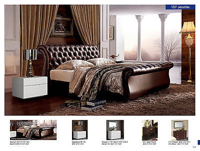 ESF Jennifer M100 Queen Bed Modern Contemporary Button Tufted