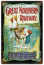 Nostalgic Great Northern Railway Railroad Sign - $25.74