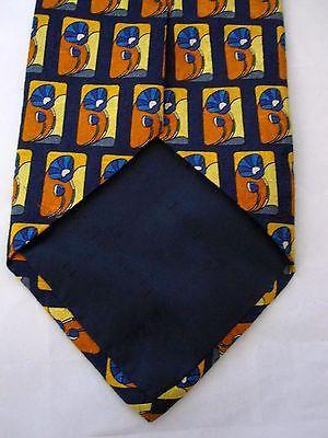 0eff1e9b Ermenegildo Zegna Silk Tie Navy Blue Orange and 50 similar items