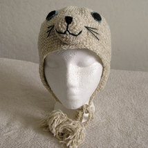 Seal Hat w/Ties for Children - Animal Hats - Large - $16.00